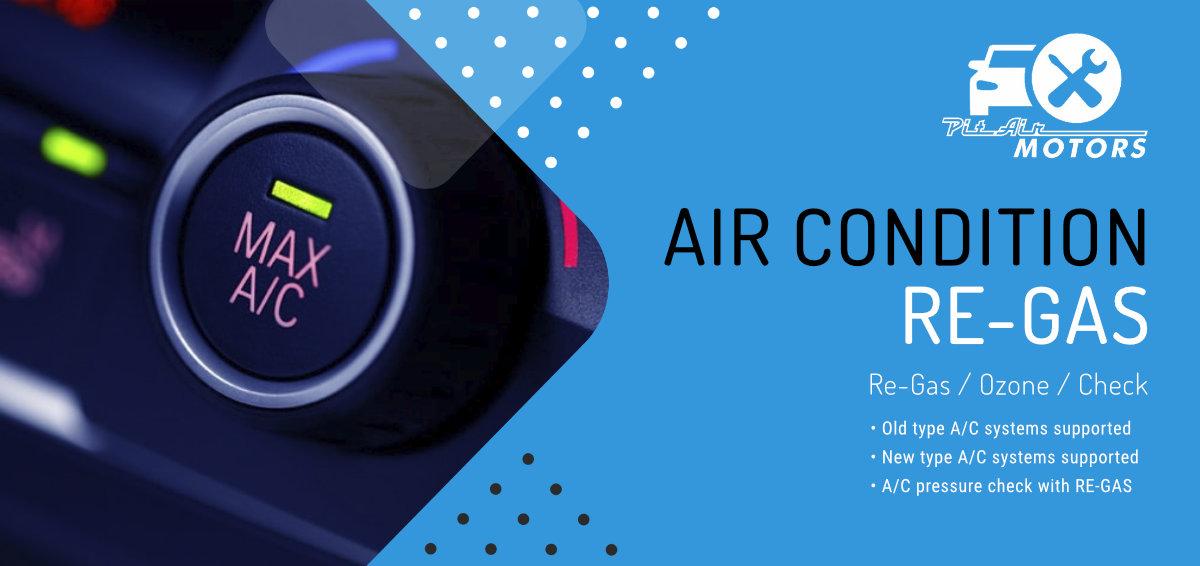 air con re-gas ozone check
